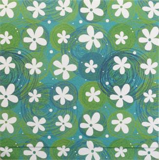 Vit blommigt mönster, textfri