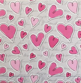 Rosa hjärtmönster, textfri