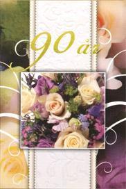 '' 90 år '' i guldfärgad folie