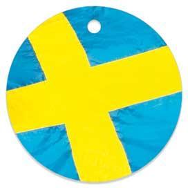 Circles med svensk flagga