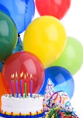 Inbjudningskort tårta & ballong