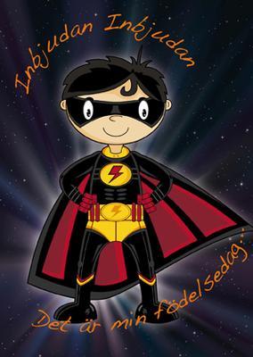 Inbjudningskort superhjälte