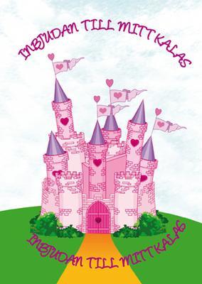 Inbjudningskort Rosa slott