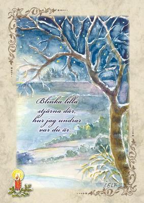 Vinterlandskap med dikt