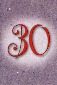 Årtalskort 30 år