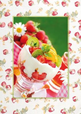 Jordgubbar och glass ... mums