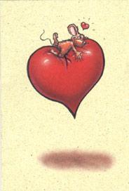 Mus på hjärta