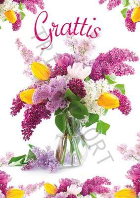 Blommor Grattis