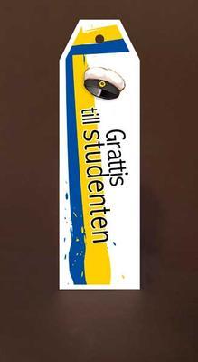 Tags Maxi Vit Grattis Till Studenten Mössa, blå gult