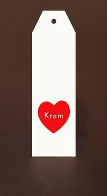 Tags Maxi Vit Rött hjärta Kram