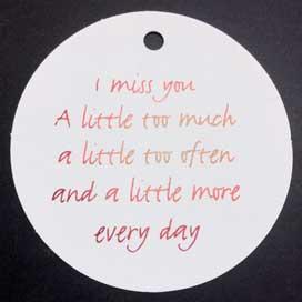 I miss You …