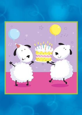 Inbjudningskort med får