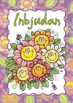 Inbjudningskort Glada Blommor