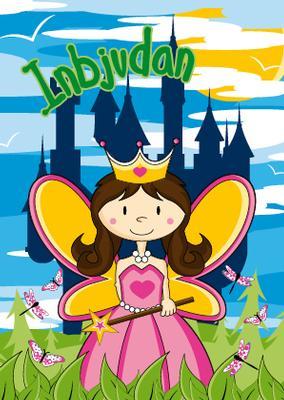 Prinsess inbjudningskort