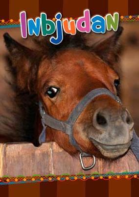 Inbudningskort häst