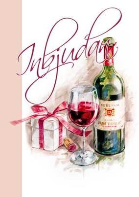 Inbudningskort Vinflaska & paket