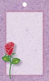 Lila kort med röd ros