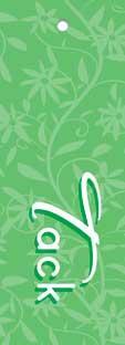Tags Motiv Grönt Blommönster Tack