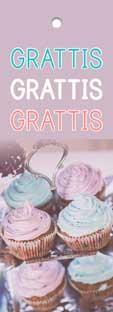 Tags Motiv Cupcake Grattis x 3