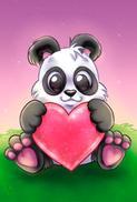 Tvättbjörn med hjärta
