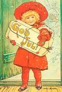 Minikort Flicka God jul, J.N