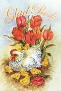 Mini kort Höna m Kycklingar, Glad påsk