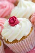 Minikort Rosa Cupcake