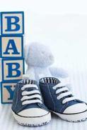 Minikort Baby Blå