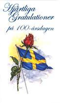 100 år, blå folierad text