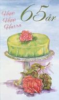 Årskort 65 år Princesstårta