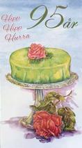 Årskort 95 år Princesstårta