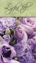Lila rosor Lycka Till