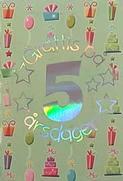 Mini Kort Grattis på 5 årsdagens