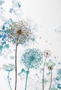 Blommor textfri Folierad