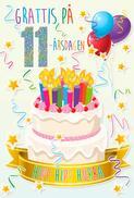 Tårta med Ljus 11år