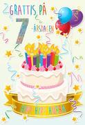 Tårta med Ljus 7år