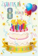 Tårta med Ljus 8år