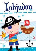 Inbudningskort Pirat